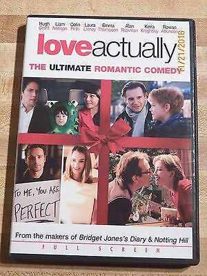 Love Actually DVD 2004 Full Frame Edition Hugh Grant Liam Neeson romance comedy