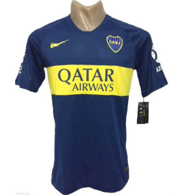 NEW 2018-19 Boca Juniors home Man soccer Jersey Short Sleeve T shirt Size:S-XXL