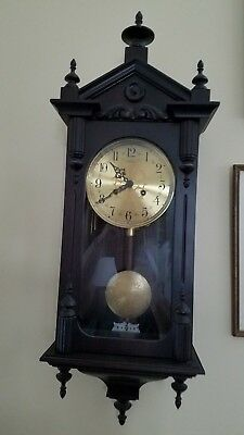 VINTAGE GOLD MEDALLION WESTMINISTER WALL CLOCK..ANSONIA GERMANY triple chime