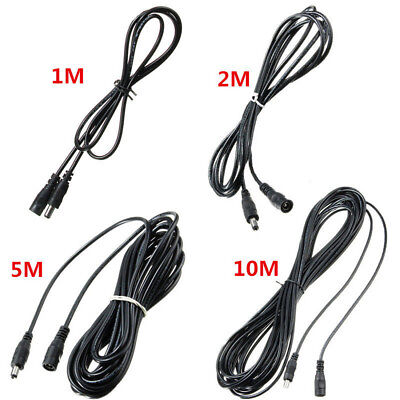 0.5M-5M DC 12V Power Extension Cable Cord Adapter For CCTV Cameras 5.5mmx2.1mm G