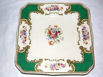 "Myotts THE BOUQUET Square Dinner Plate 8 3/4"" Royal Crown England  Free Shipping"