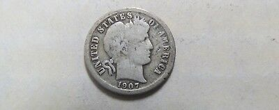1907-O Barber Dime 10 Cents