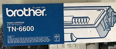 Genuine Brother  TN6600 BLACK Toner Cartridge  A4 6000 pages