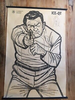 Rare Police FBI The Thug ShootingTarget Practice Industrial Poster