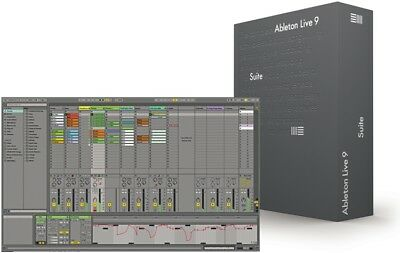 Ableton Live 9 SUITE (Full) version BOXED, incl. ALL ORIGINAL CONTENTS +Manual,