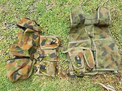 Auscam Tactical Vest With Pouches. Unused.