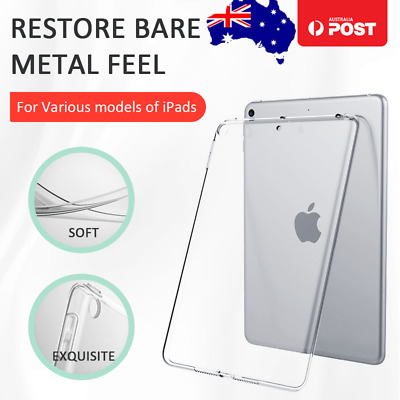 "New iPad 6 (2018) 9.7"" A1893 Clear Soft TPU Silicone Protective Back Cover Case"