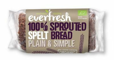 Everfresh Natural Foods Organic Sprouted Spelt Bread 400g (Pack of 8)