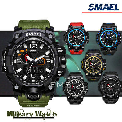 SMAEL S Shock Waterproof Sports Military Men's Analog Quartz Digital Watches