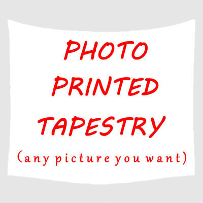 Personalised Tapestry Printed Photo Custom Made Print Home Decor Bedspread Beach
