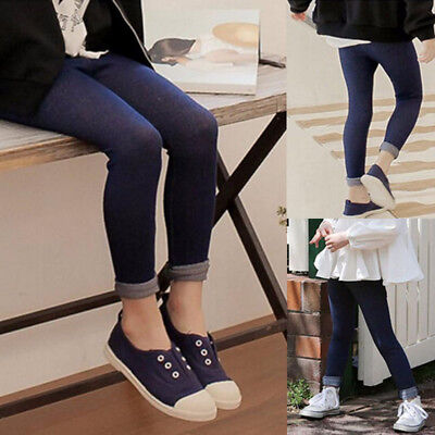 Kids Baby Girl Slim Fit Jeans Leggings Children Toddler Elasticity Tight Pants L