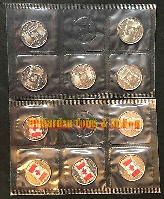 2015 Canada Coloured Flag 25-cents Brilliant Uncirculated 10-Pack Set RCM Sealed