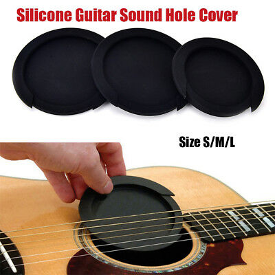 3Size Acoustic Guitar Feedback Buster Sound Hole Cover Sound Buffer Hole Protect