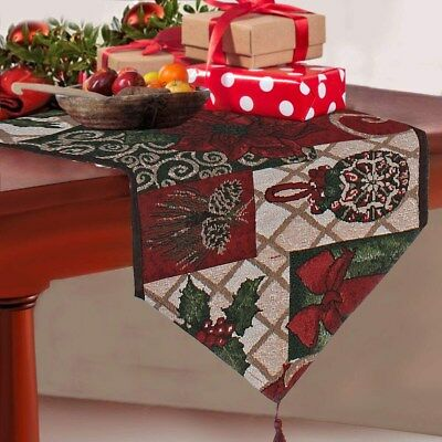 Vintage Theme/Holiday Theme Table Runner Modern Geometric Dining Kitchen Home