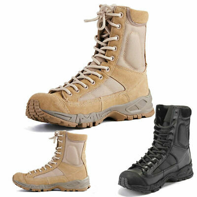 Outdoor Shoes Hiking Mens Leather Tactical Boots Military Combat Army SWAT Boots