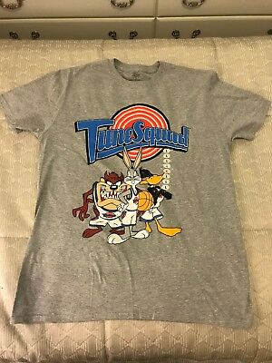 24260ef8234975 Looney Tunes Men s Space Jam Tune Squad T-Shirt Large Gray NEW Without Tags