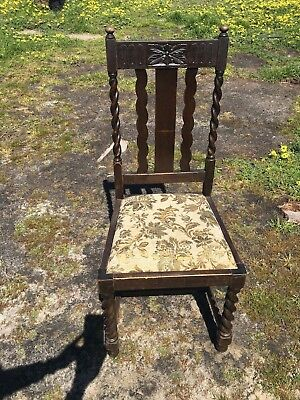 Antique Jacobean Dining Chairs Set Of 4 *excellent Condition* Mornington Area