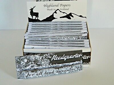 Highland HEADQUARTERS King-Size Rolling Papers & Roach Tips convenient pack