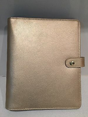 Extremely Rare Kikki K Gold Leather Large Planner