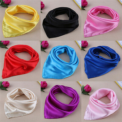 Women Lady Small Square Satin Silk Scarf Smooth Wrap Scarves Handkerchief 20 new