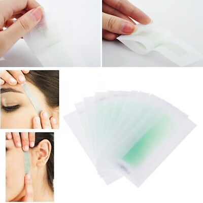 10PC Hair Removal Epilator Depilatory Cold Wax Strip Paper Pad For Face Nonwoven