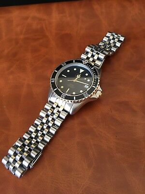 """Vintage Tag Heuer 1000 Bi-metal Gold Gilt Dial Professional """"Wolf Of Wall St"""""""
