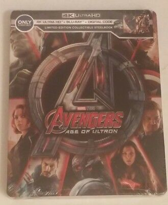 New! Avengers Age Of Ultron steelbook (4K/ BluRay/ Digital) Marvel Best Buy