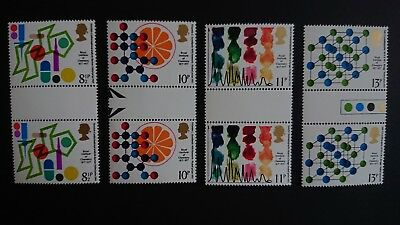 Gb Um Commemorative Stamp Gutter Pairs - Chemistry - 2.3.77