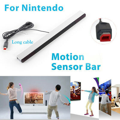 Wired Remote Motion Sensor Bar IR Infrared Ray Inductor for Nintendo Wii & Wii U