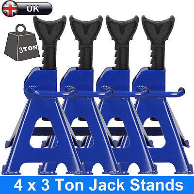 2 Pair 3Ton Axle Stands Lifting Capacity Stand Heavy Duty Car Caravan Floor Jack