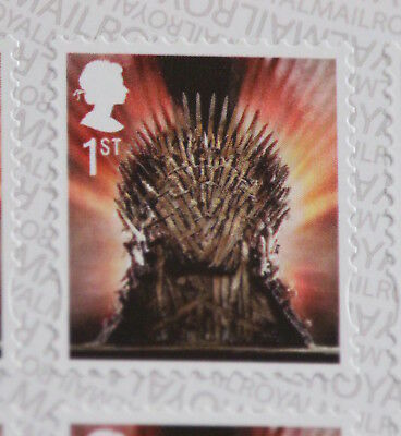 GB 2018 SG4049 1st Class Game of Thrones Self Adhesive Gravure from Booklet MB20