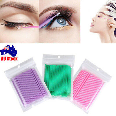 400pcs Disposable Eyelash Swab Applicator Micro Mascara Brush Extension Tools CB