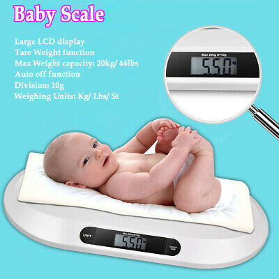 Smart Digital Weigh Comfort Baby Scale with 3 Weighing Mode 44Pound lbs Capacity
