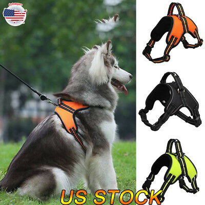 Pet Dog Vest Harness Leash Collar No Pull Adjustable S/M/L/XL Reflective Rope US
