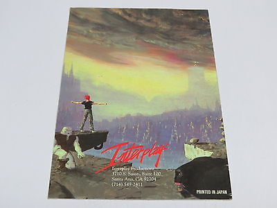 Out Of This World Another Instruction Booklet Manual SNES Super Nintendo USA