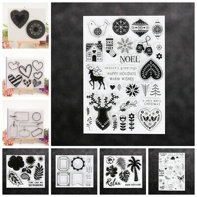 Album DIY Crafts Clear Transparent Stamp Scrapbooking Silicone Rubber Flower