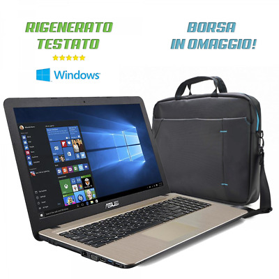 "Notebook Asus Vivobook Display 15.6""Ram 4Gb Ddr4 /Ssd 240Gb / Win 10/ Rigenerato"