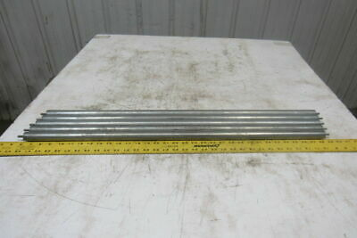 """1"""" OD x 32-5/16""""BF Gravity Conveyor Roller 1/4"""" Pin Axle Lot Of 5"""