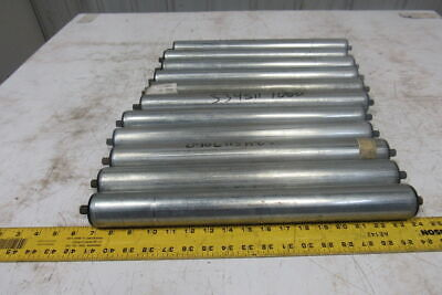 """Dematic 1.9"""" OD x 16-13/16"""" BF Gravity Conveyor Roller 7/16"""" Hex Shaft Lot Of 11"""