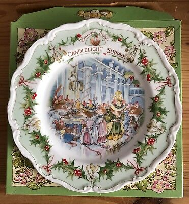 Teller Royal Doulton Brambly Hedge Candlelight Supper Brombeer Haag ca. 20 cm