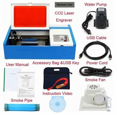 35w co2 k40 laser engraver cutter usb K40 laser Co2 tax & VAT included in price.