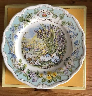 Teller Royal Doulton Brambly Hedge The picnic Brombeer Haag ca. 20 cm