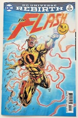 The Flash 21 Lenticular Cover 2017 DC Rebirth 'The Button' pt2 Bag & Board