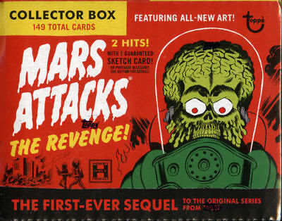 2017 Topps Mars Attacks The Revenge Sealed Set Box 2 Hits-Sketch,Gold,Autograph