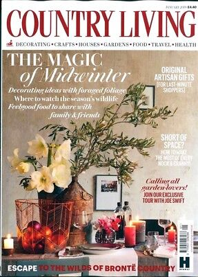 Country Living Magazine Issue January 2019 ~ New ~
