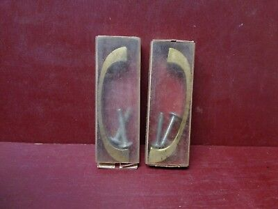 2 More Avail Nos Vintage Mid Century Cast Brass Cabinets Doors Drawers Handles