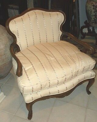 Vintage Country French Upholstered Arm Chair