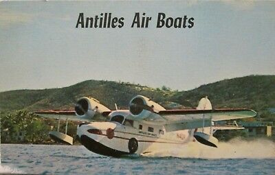 Antilles Air Boats Post Card, 70's Vintage, Never Mailed or Written On