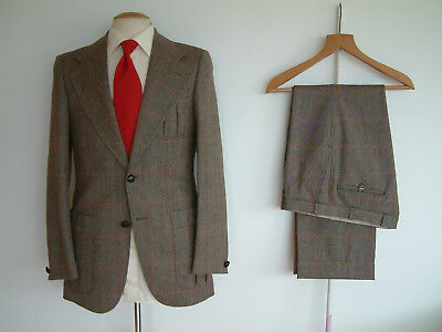 """1970's COUNTRY SUIT..40"""" x 34""""..HEAVY CLOTH..PLEATED POCKETS..INTEGRAL BAR BACK"""