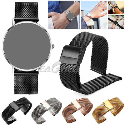 Stainless Steel Wrist Watch Band Strap Buckle For Samsung Galaxy Watch 42mm 46mm
